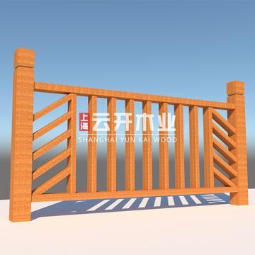 木栏杆定制