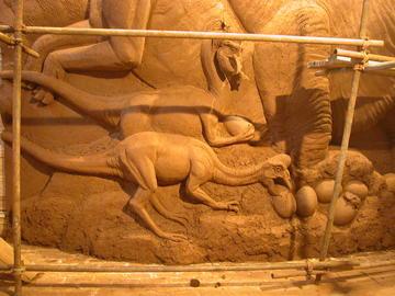 恐龙雕刻模型