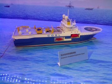 勘探船模型
