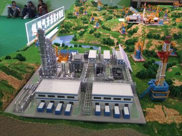 煤层开采沙盘模型