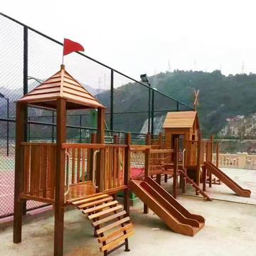 防腐木儿童游乐设施
