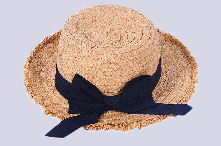 Raffia Straw Lady Fashion Bucket Hat