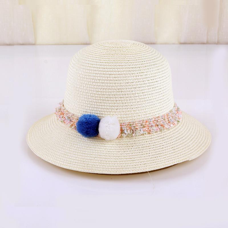straw funny womens beach straw bucket hat