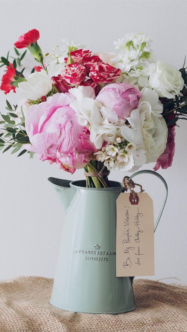 牡丹花花束的插花