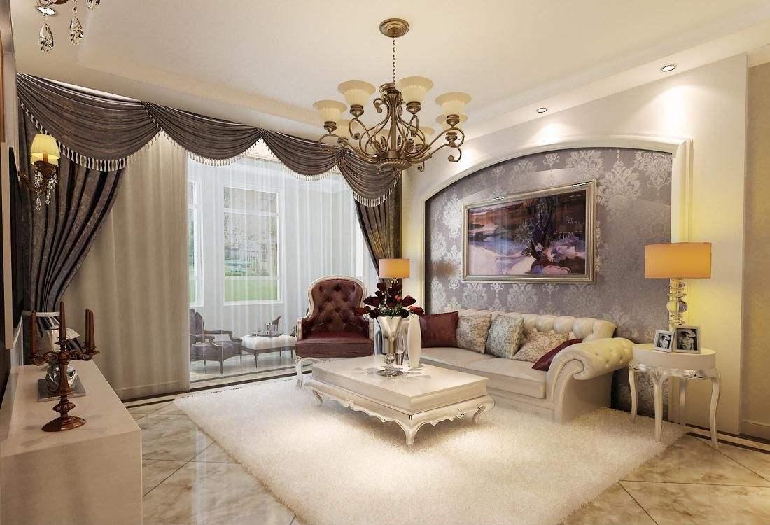 欧式大花墙纸用作电视墙背景