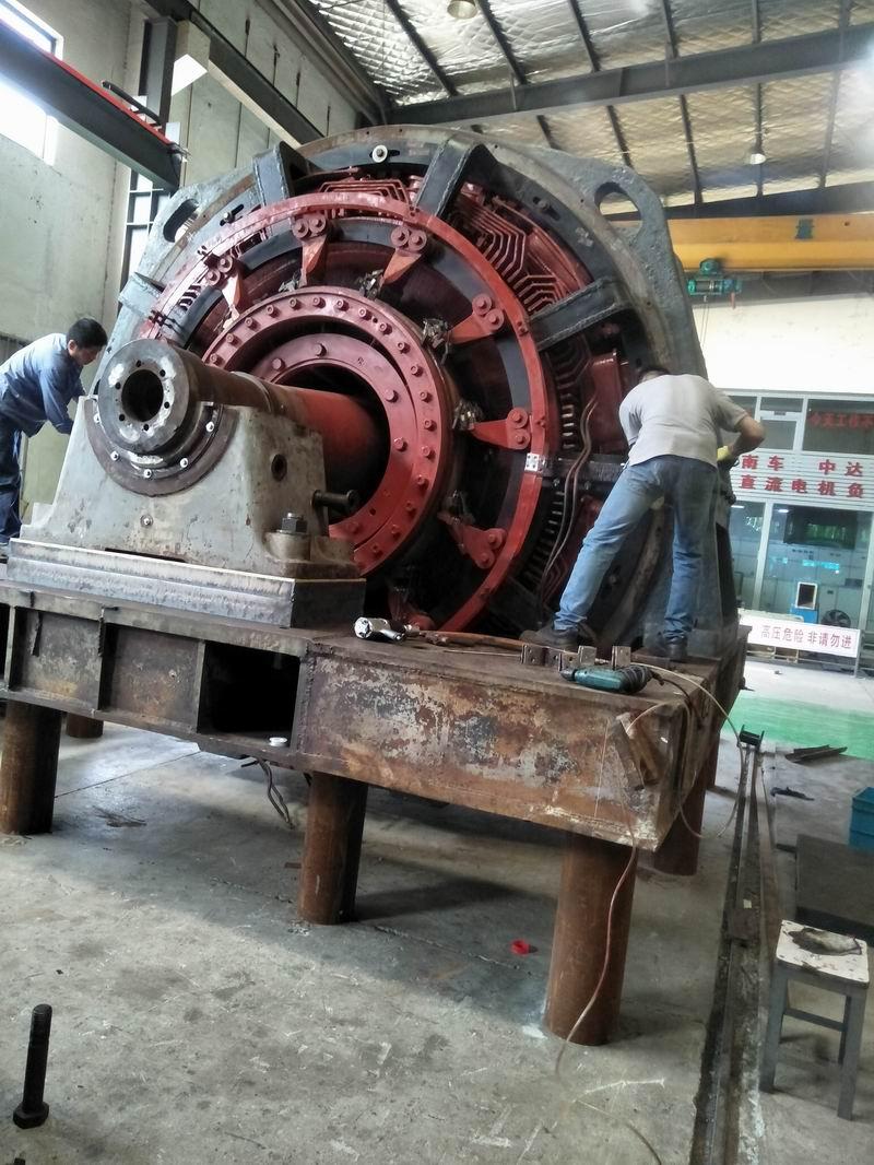 110吨重4000KW直流电机大修