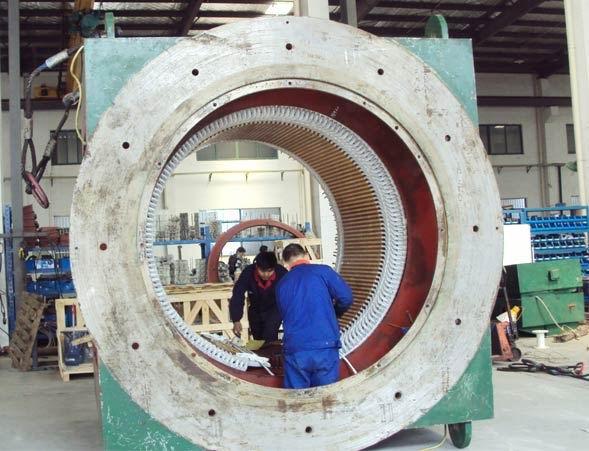 10000KW10KV高压电机修理中