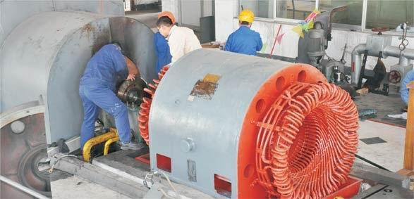 12000KW发电机现场保养