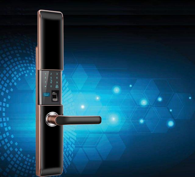 挪客威H30高档智能锁自动滑盖家庭装