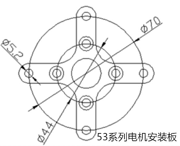 Aircraft model fittings aluminum alloy fixed plate, cross