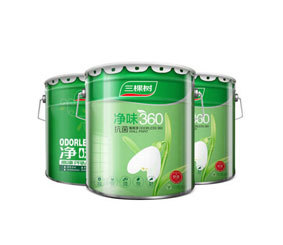 健康+净味360抗菌墙面漆 白色内墙乳胶 漆 油漆涂料套装45L