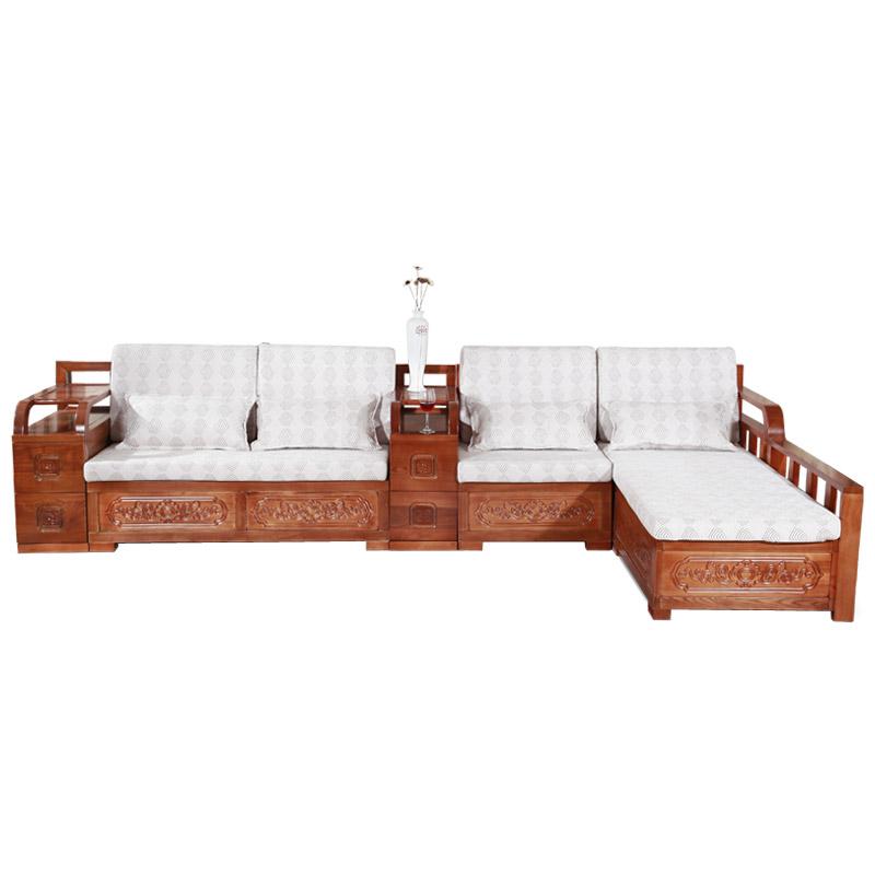 全实木沙发 中式组合