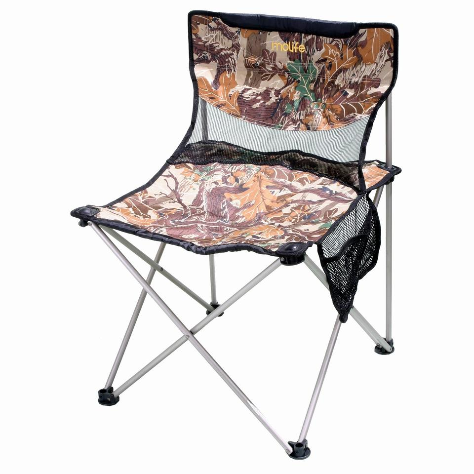 Quad chair with side pocket