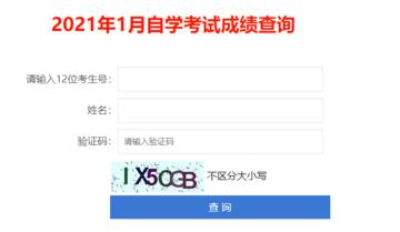 深圳市2021年1月自学考试成绩查询系统