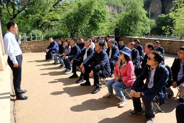 陈晓光、张道宏率队赴延安开展中共党史学习教育现场教学活动