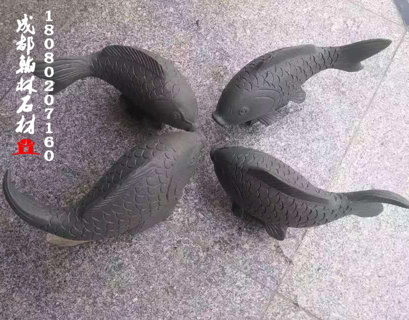 石雕鱼四川专业定制批发