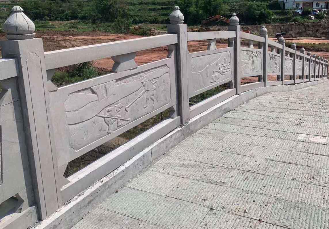 保證做工品質四川青石手工浮雕橋欄杆價格實惠