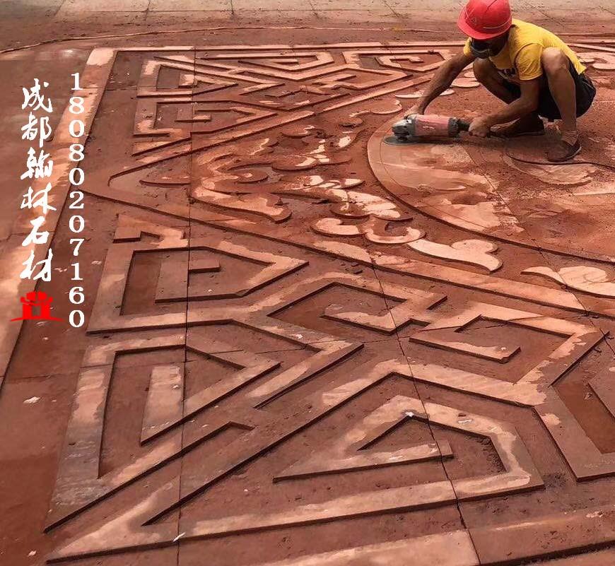 紅砂岩地雕四川廠家常年不間斷供應
