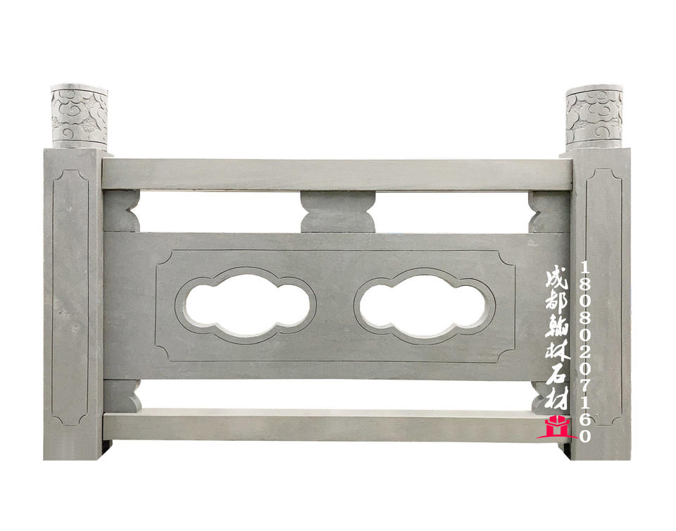 四川精工制作石雕青石栏杆生产厂家
