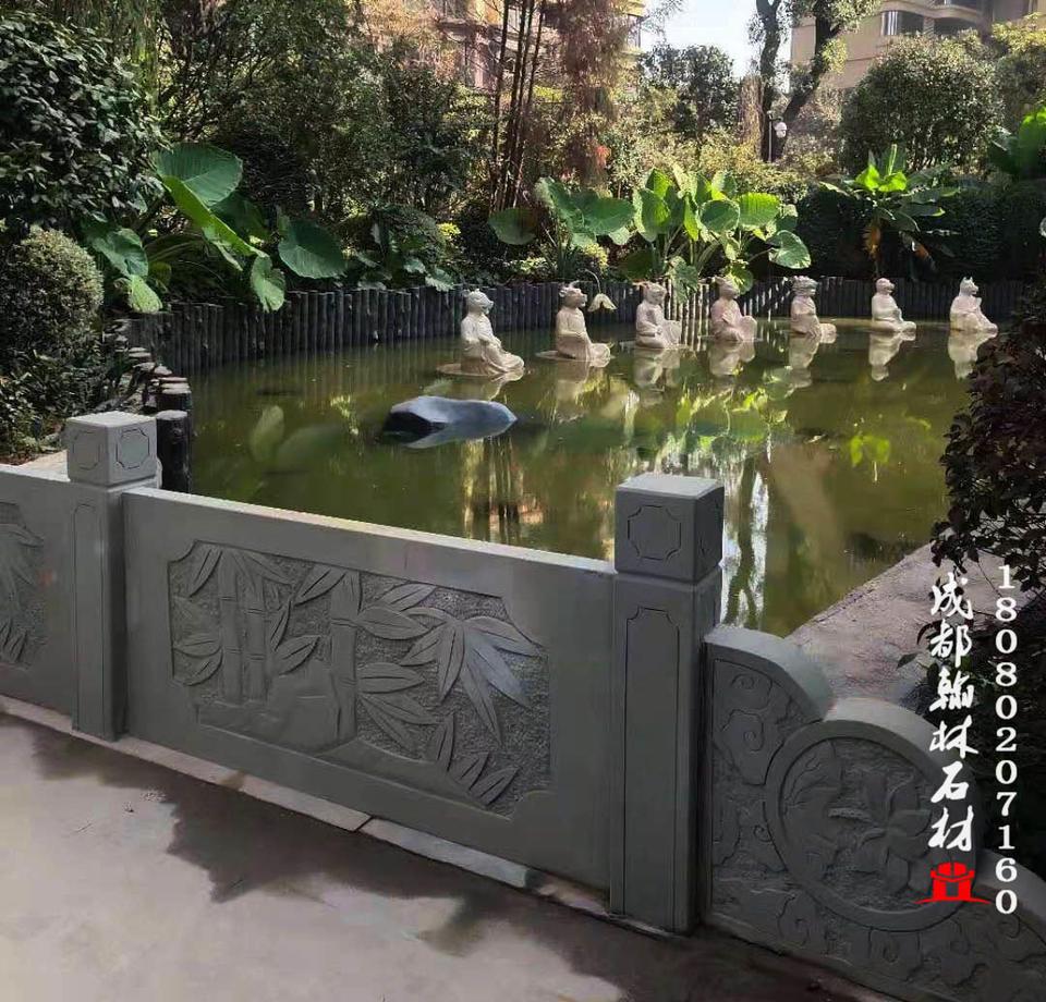 四川园林景观材质上乘青石桥栏杆