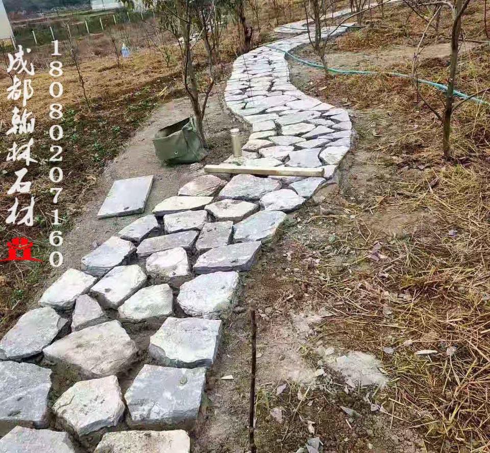 四川人行道碎拼青石板自然面款式多样