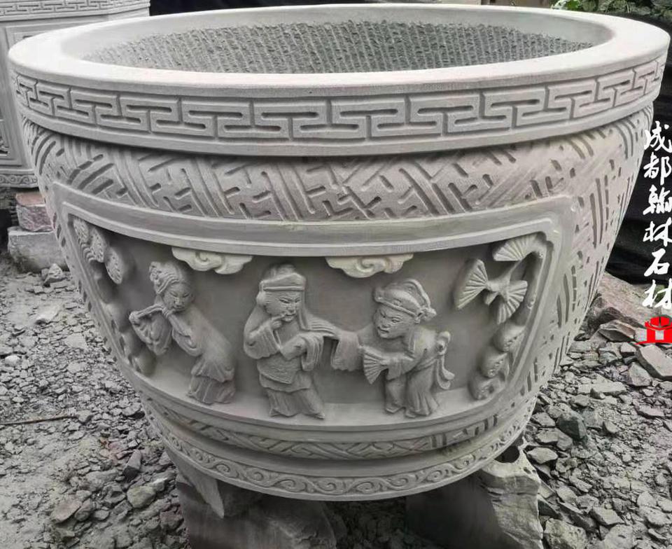 四川专业定制石雕水缸加工