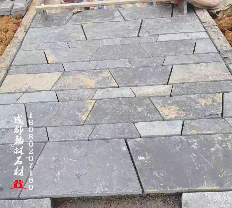 厂家保证做工品质四川青石板岩地铺