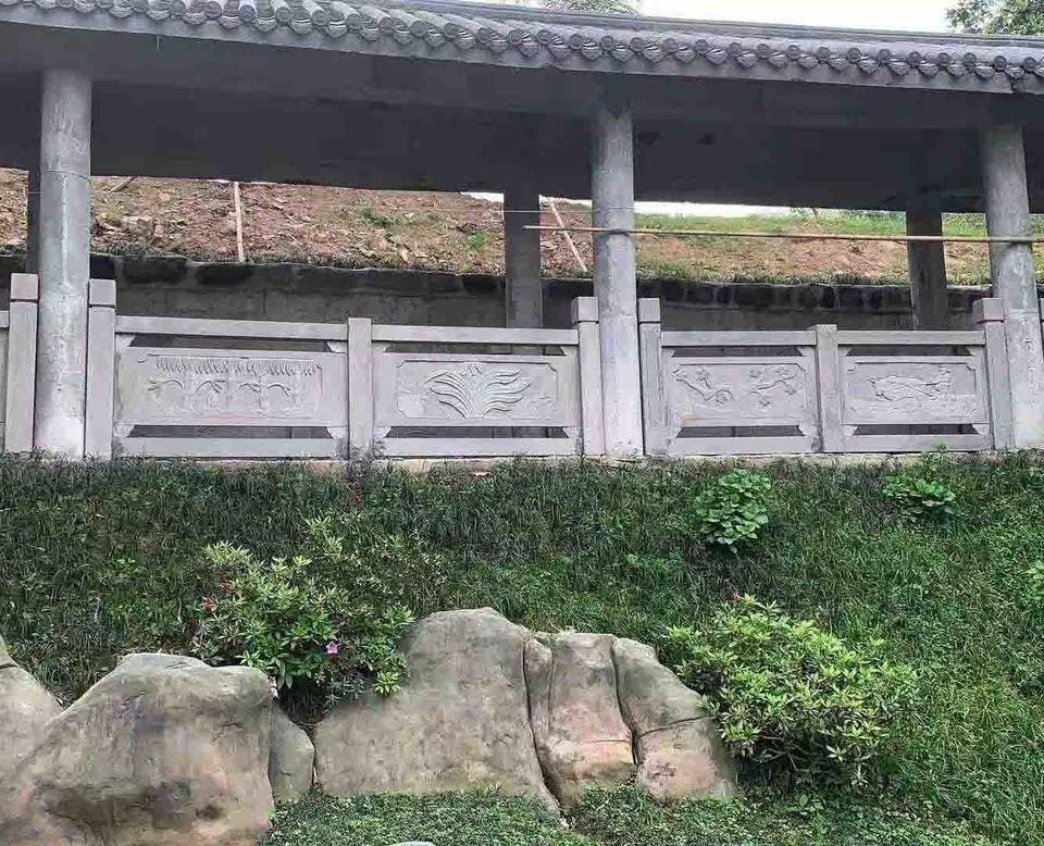 四川样式齐全青石长廊小栏杆