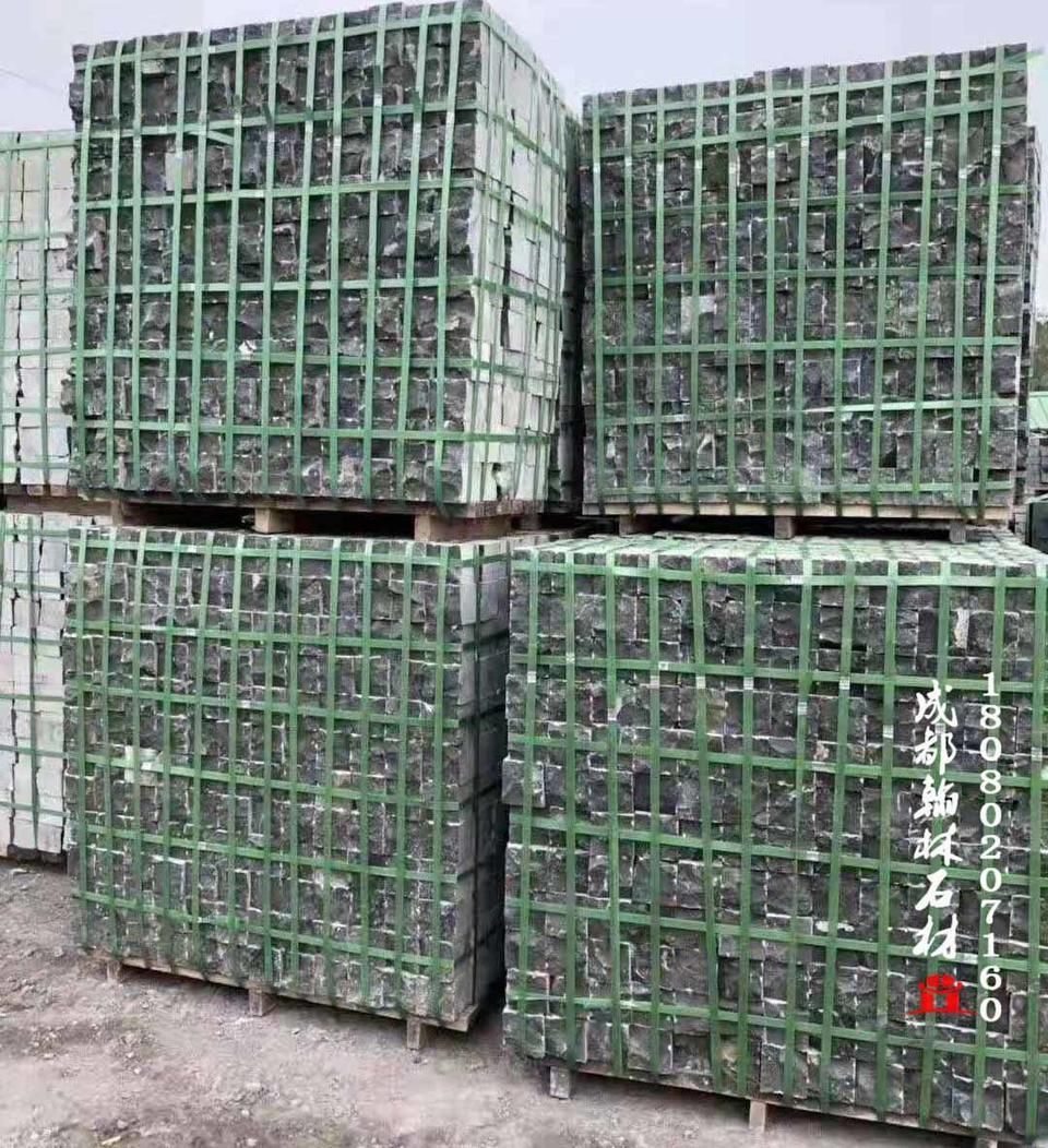 四川厂家供应黑青石自然面马蹄石