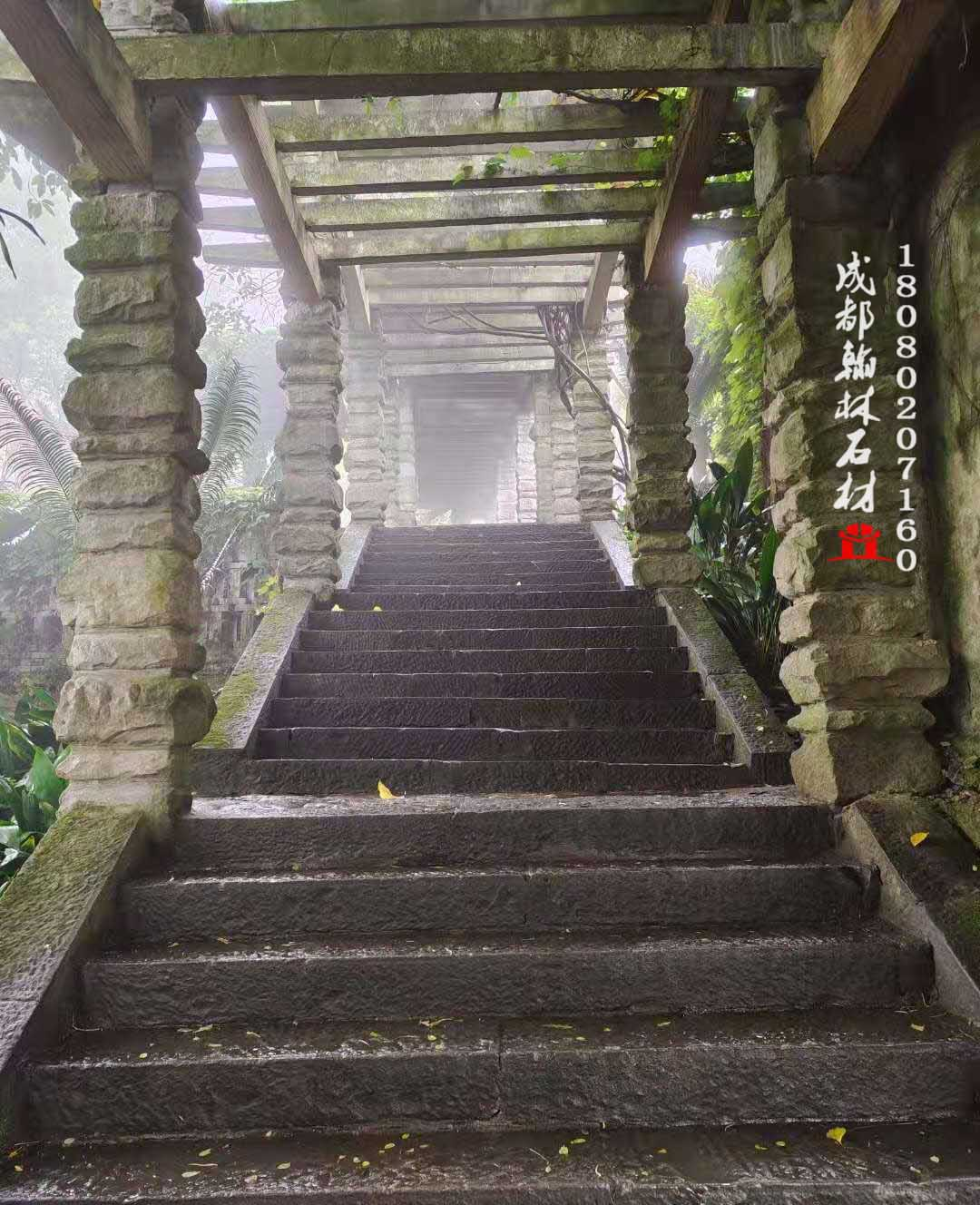四川厂家青石梯步廊桥
