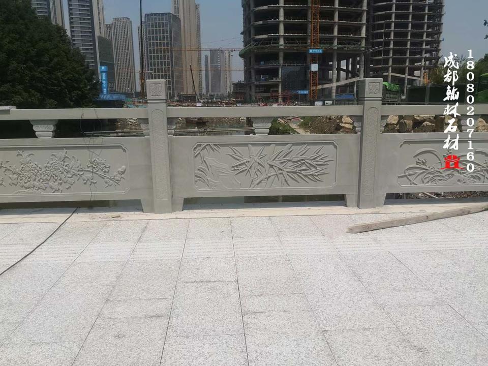 青石栏杆安装效果|四川|贵州|重庆