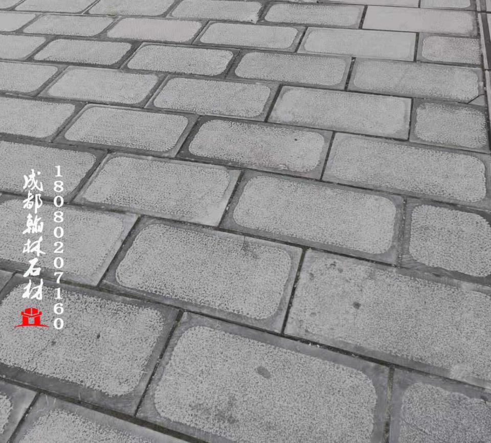 贵州石灰岩留边荔枝面油光青石板