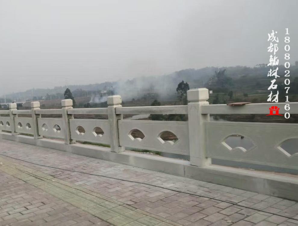 四川青石扇形镂空栏杆