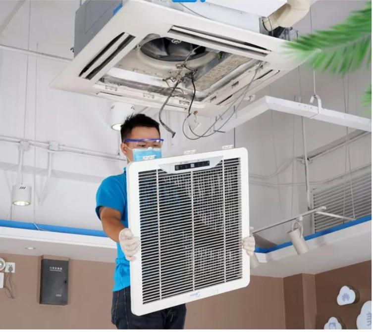 中央空调内机清洗
