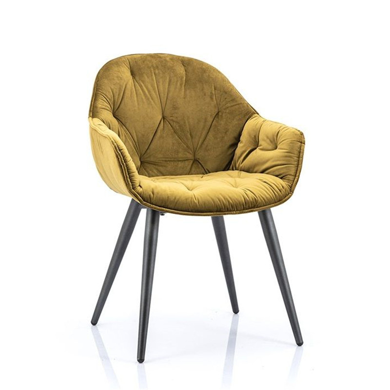 C-1132 Dining Room Furniture Modern Dining Chairs Metal For yellow velvet chairs