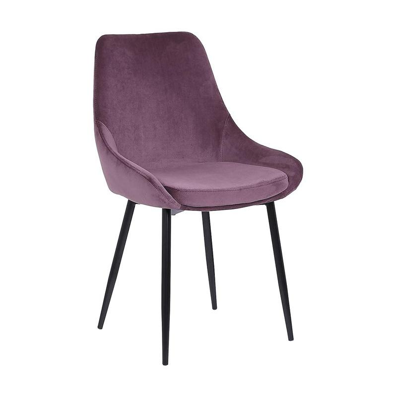 C-1154  Metal Legs Velvet fabric Dining Chairs