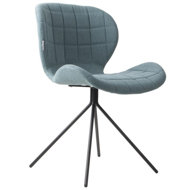 L-1006 Shell Shape Metal Legs Velvet fabric Dining Chairs