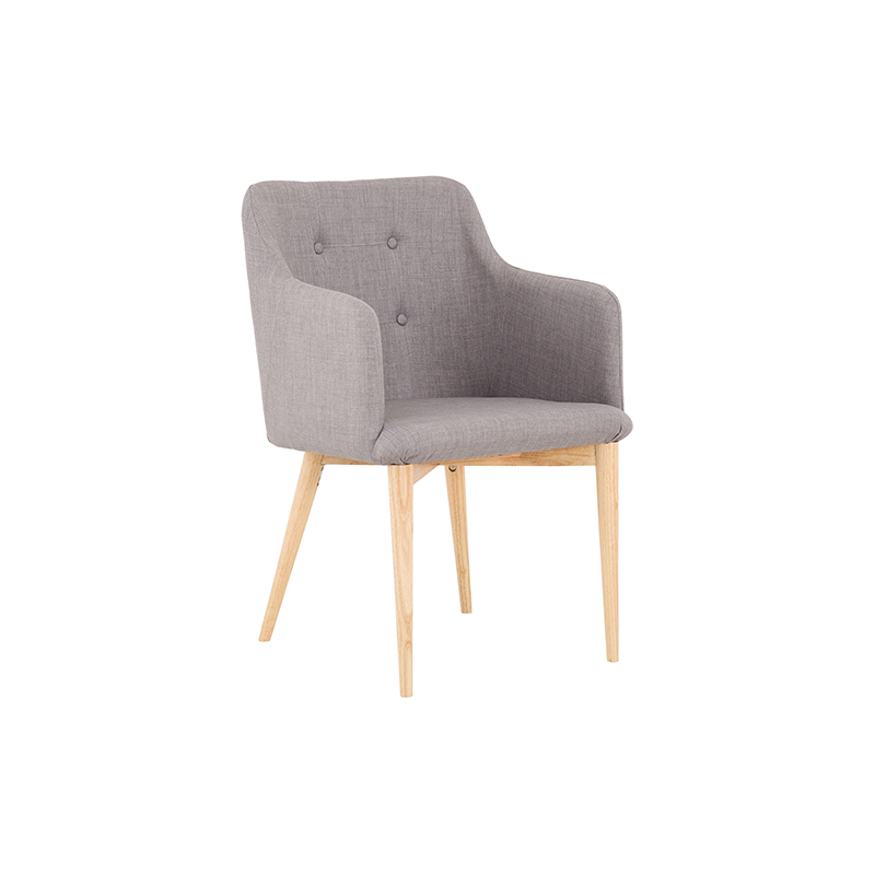 CH004 gray vintage wood dining chair