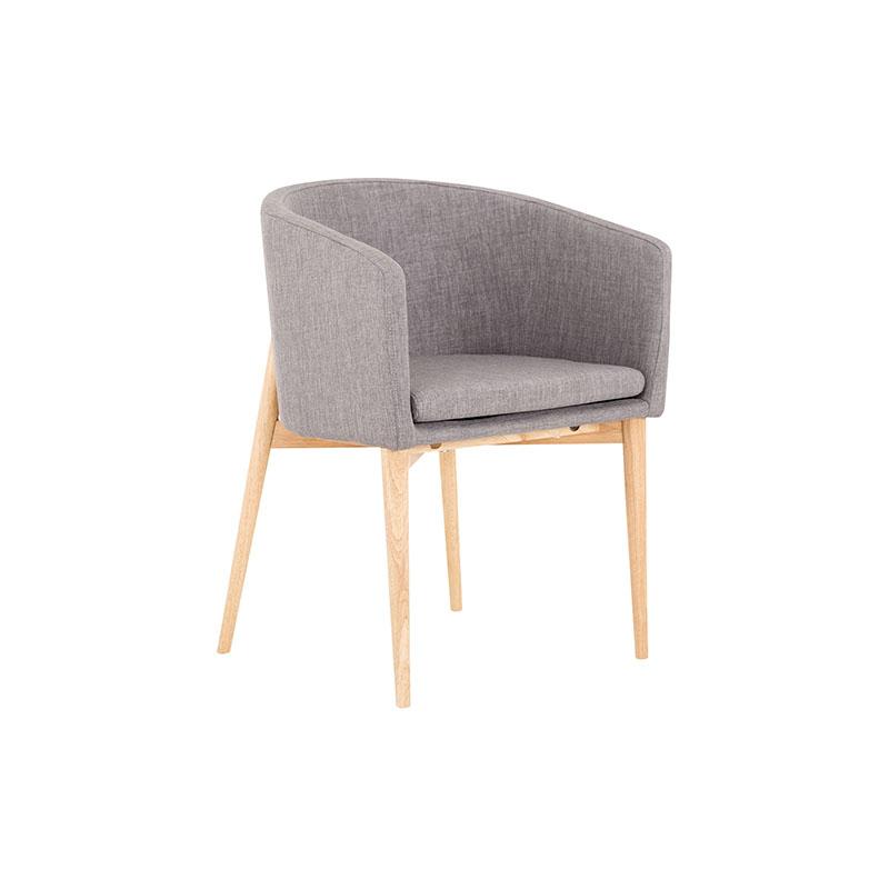 CH007B  ash wood leg dining chair