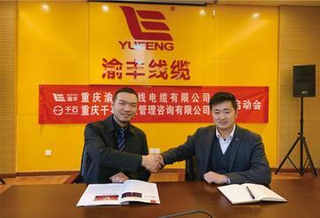 重庆渝丰电线电缆与我公司达成战略合作