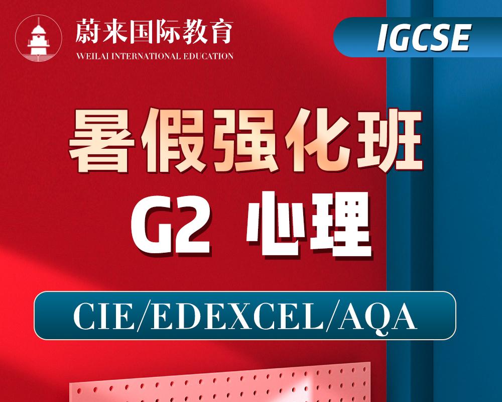 【IGCSE-G2】暑假强化班【心理】