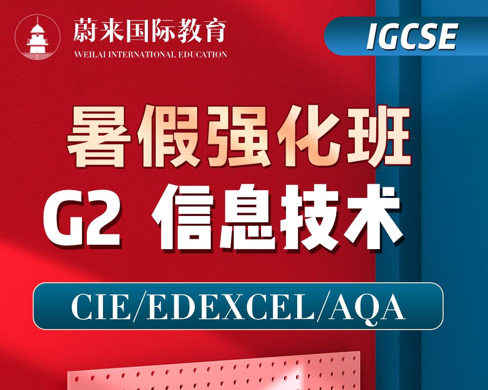 【IGCSE-G2】暑假强化班【信息技术】
