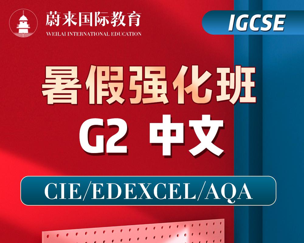 【IGCSE-G2】暑假强化班【中文】