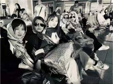 在伊朗机场的时候姐姐们留下的笑容