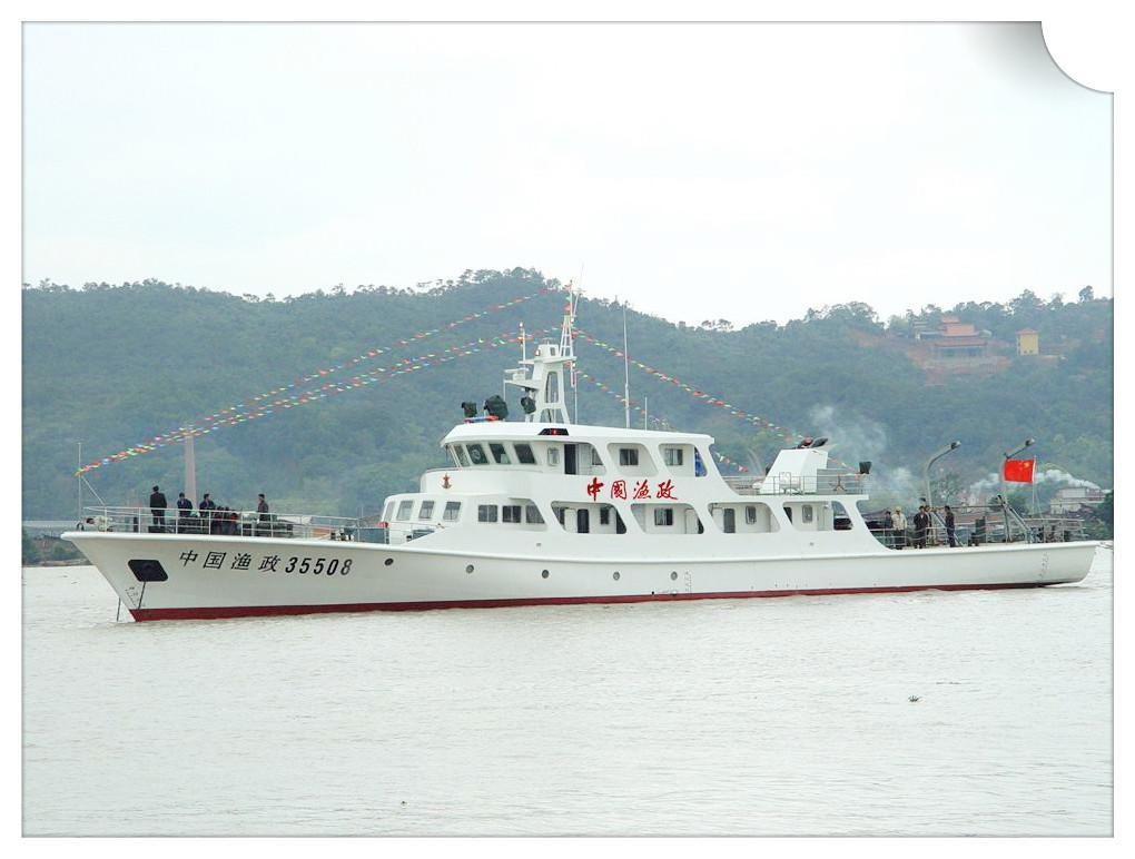 建造完工的 2400 马力渔政船