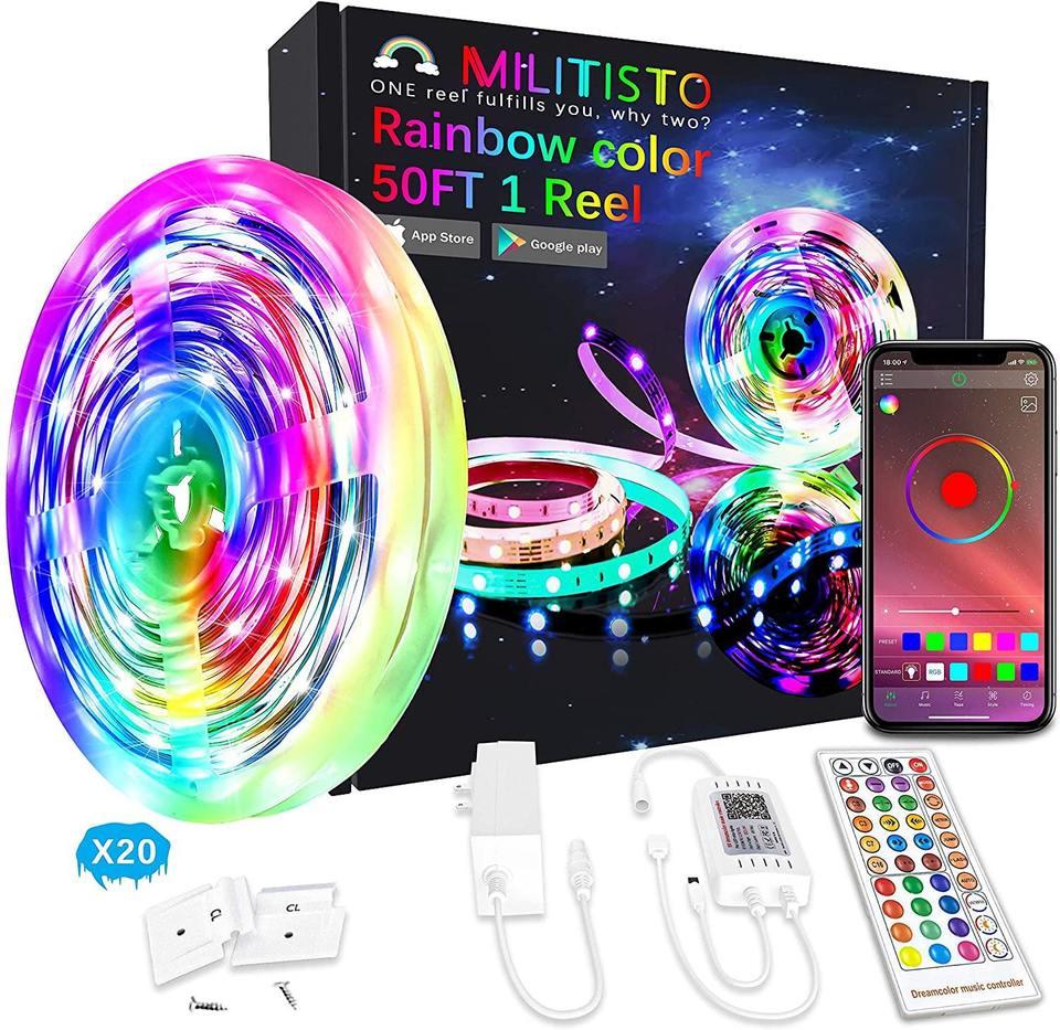 Militisto Rainbow LED Light Strips 65.5ft(1-pack)