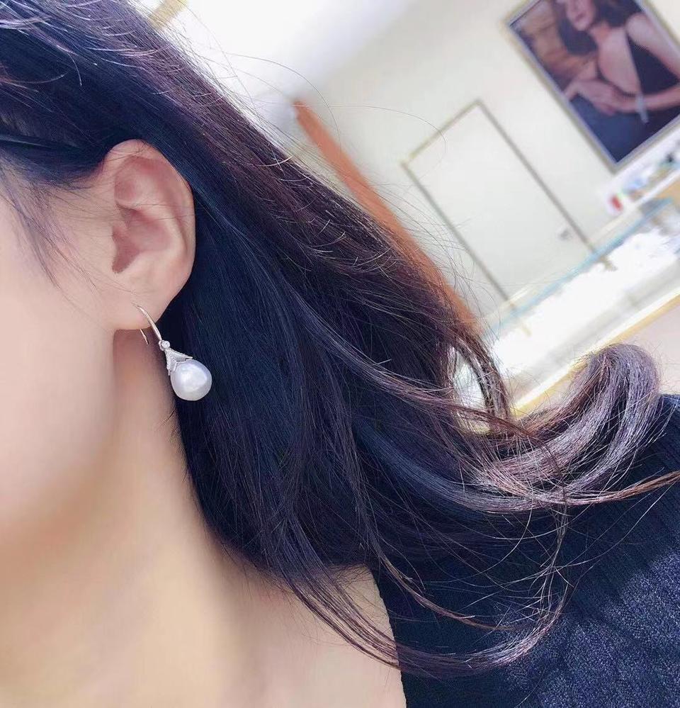 10-11mm澳白耳钉