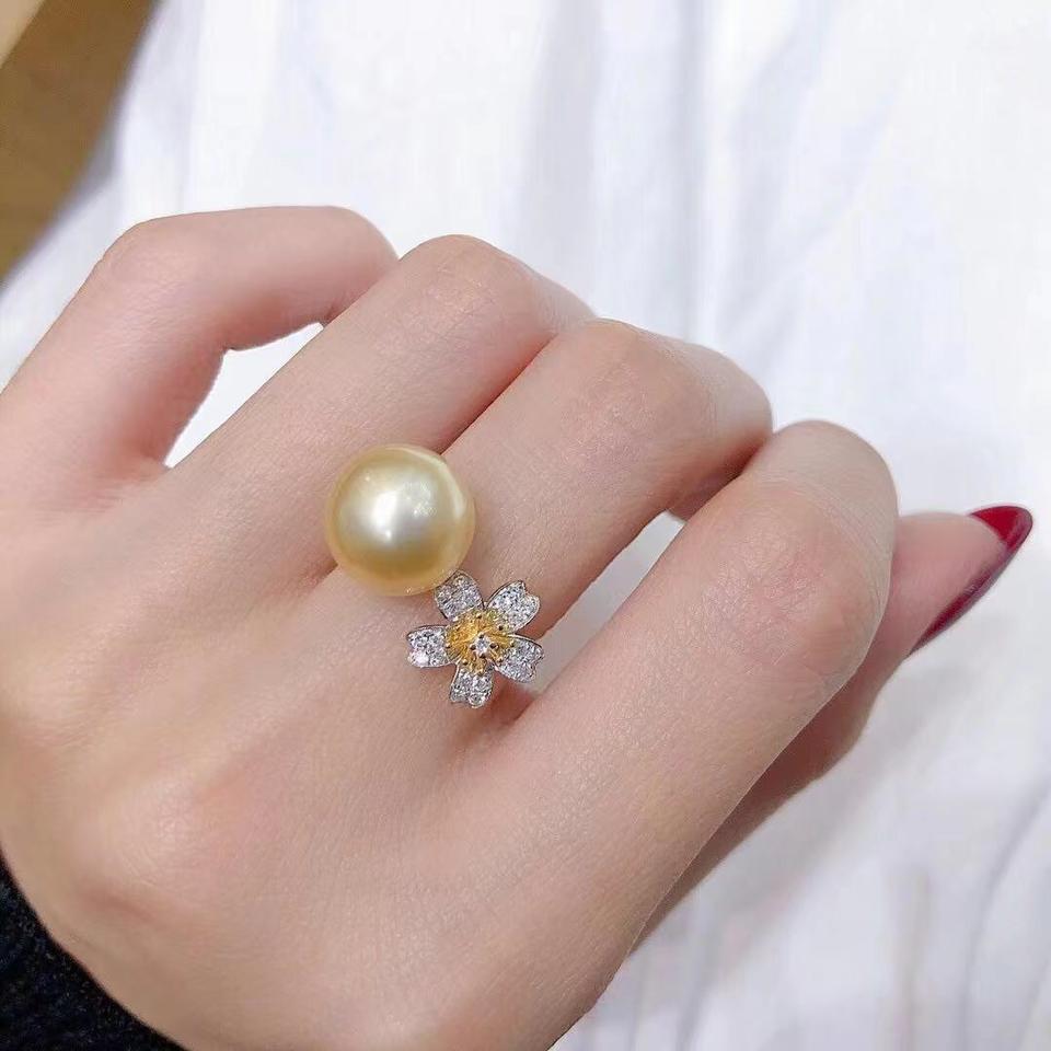 10-11mm小雏菊南阳金珠戒指