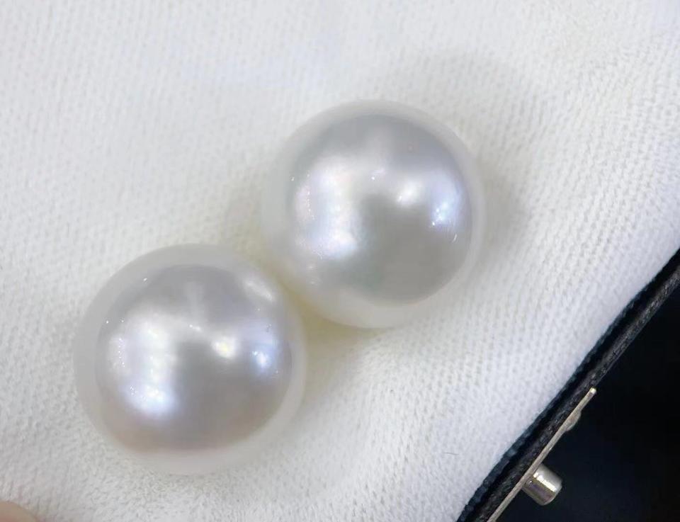 18-19mm澳白对珠稀世珍宝