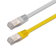 SF/UTP double fully Shielded C Twisted 4 Pairs category 5e patch cord